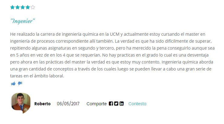 Opinion Universidad Complutense de Madrid 2