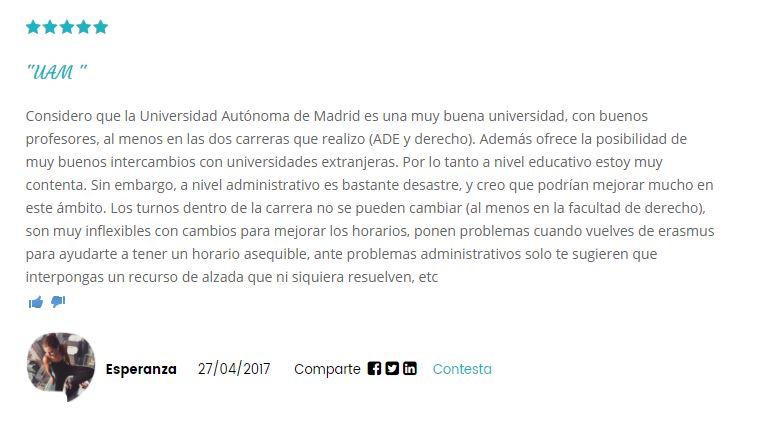 Opinion Universidad Universidad Autonoma de Madrid