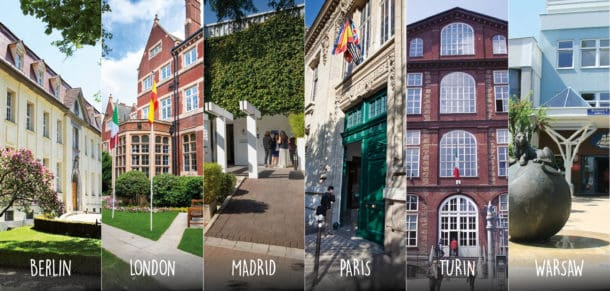Various campuses of ESCP business school