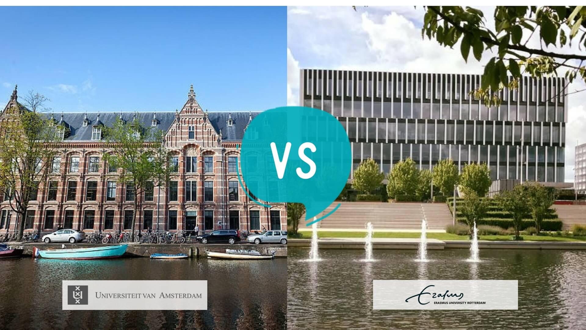 University of Amsterdam (UvA) Vs Erasmus University of