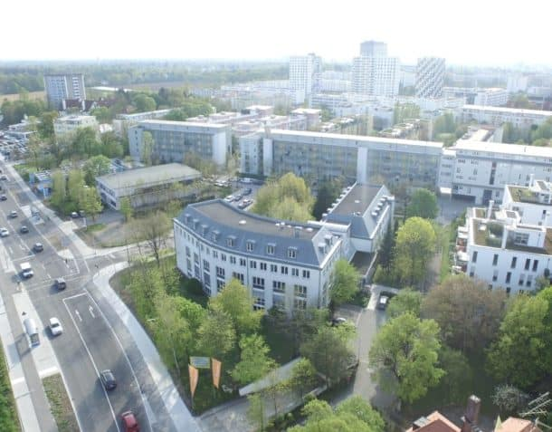 New European College Arial shot