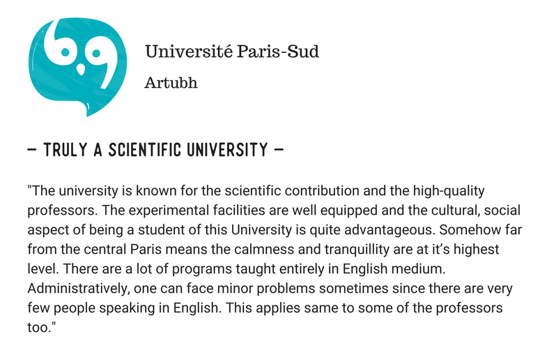 Thinking Of Studying At University Of Paris Sud Read These Student's Opinions