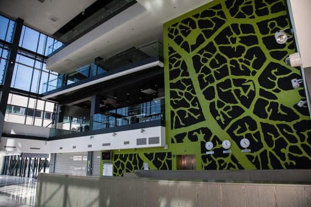 TalTech university lobby in the Baltics