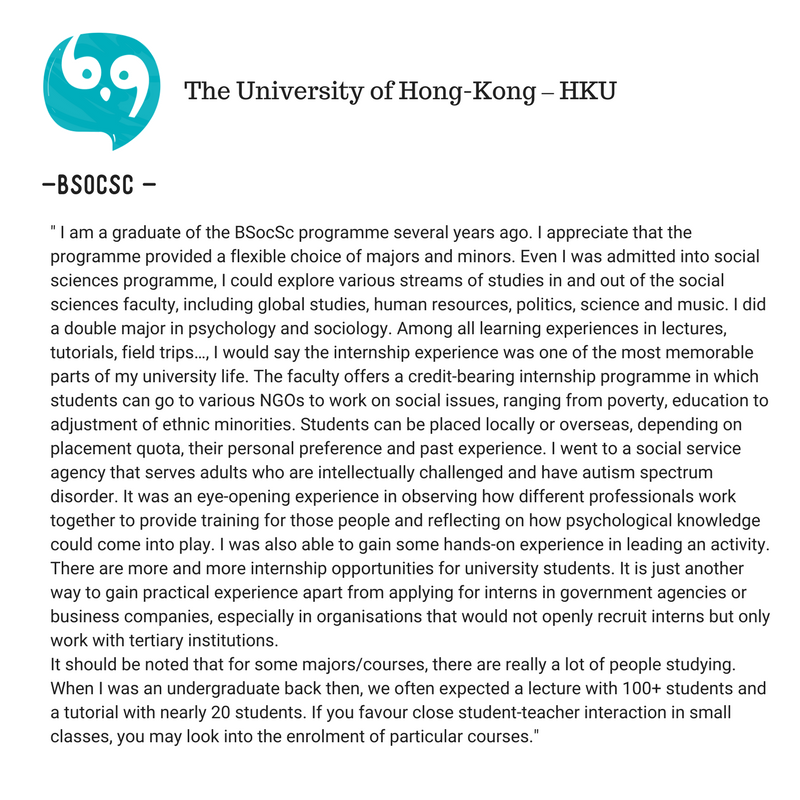 The University of Hong-Kong (HKU) Vs The Chinese University of Hong Kong (CUHK)