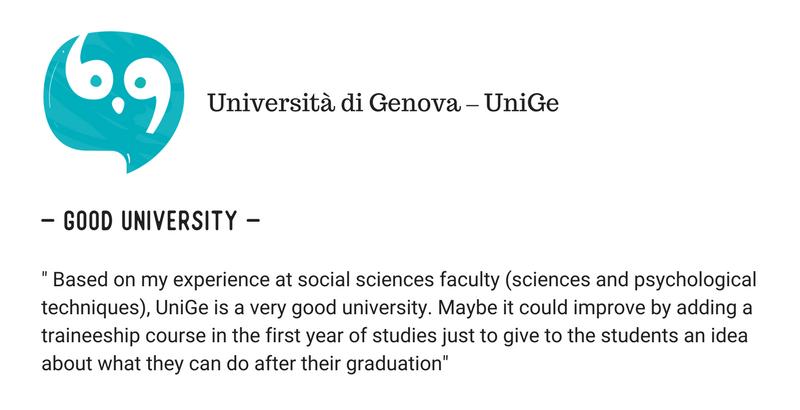 Università di Genova (UniGe) Vs Università di Pisa student reviews (1)