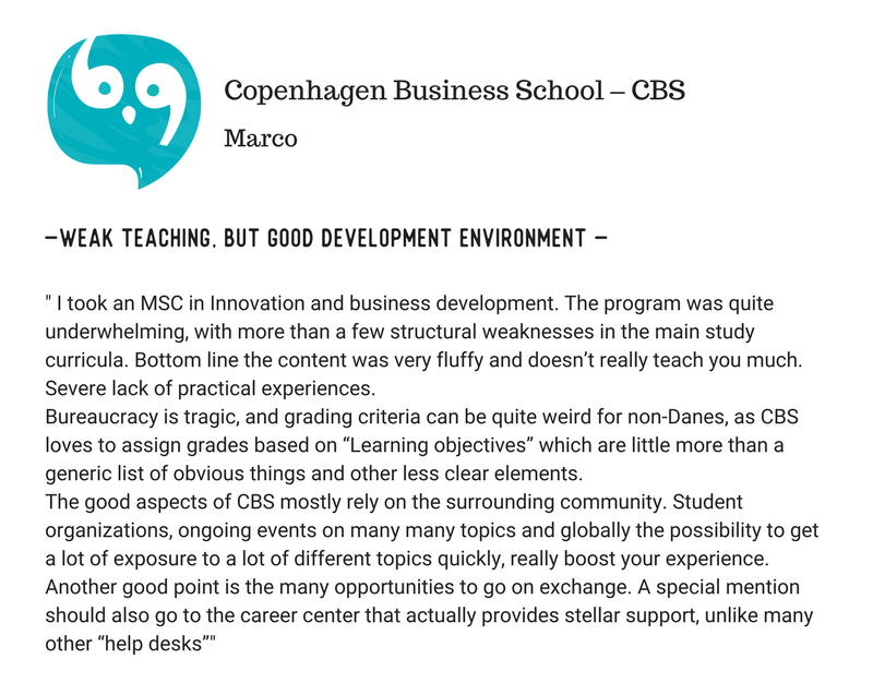 Paris School of Business (PBS) Vs Copenhagen Business School (CBS)