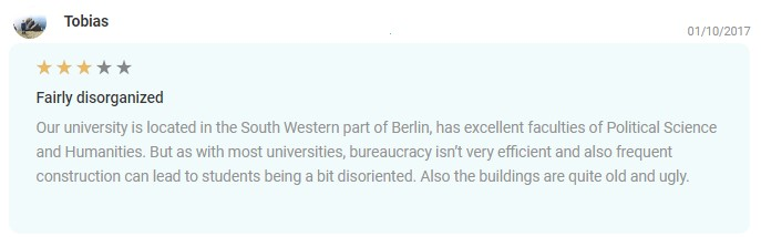 EDUopinions Freie university Berlin review 2