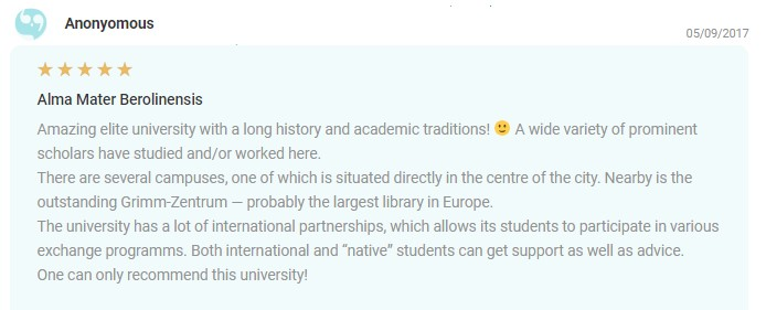 EDUopinions Humboldt University Berlin Review 3