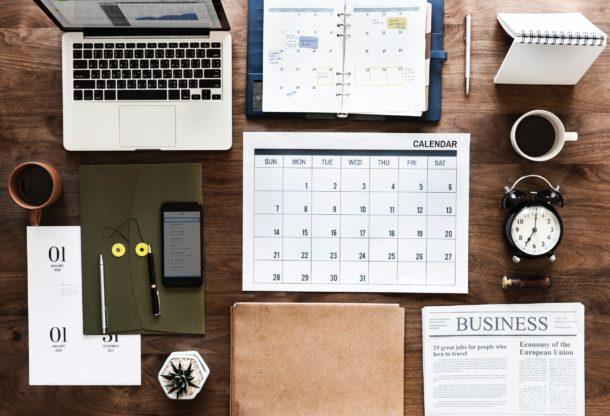 5 Essential Study Tools Calendar & Laptop photo