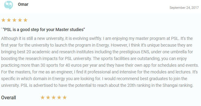 PSL University Review From Omar