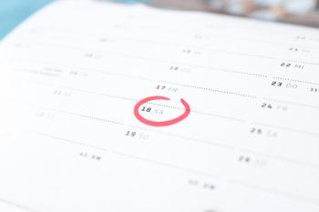 Calendar with schedule