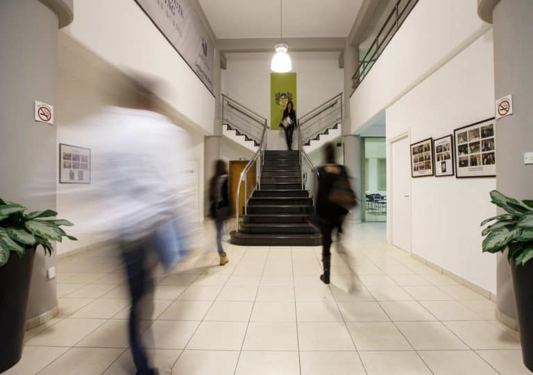 Global University of Business Europe campus hallway