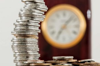 Stack of coins. Student Finance Guide UK