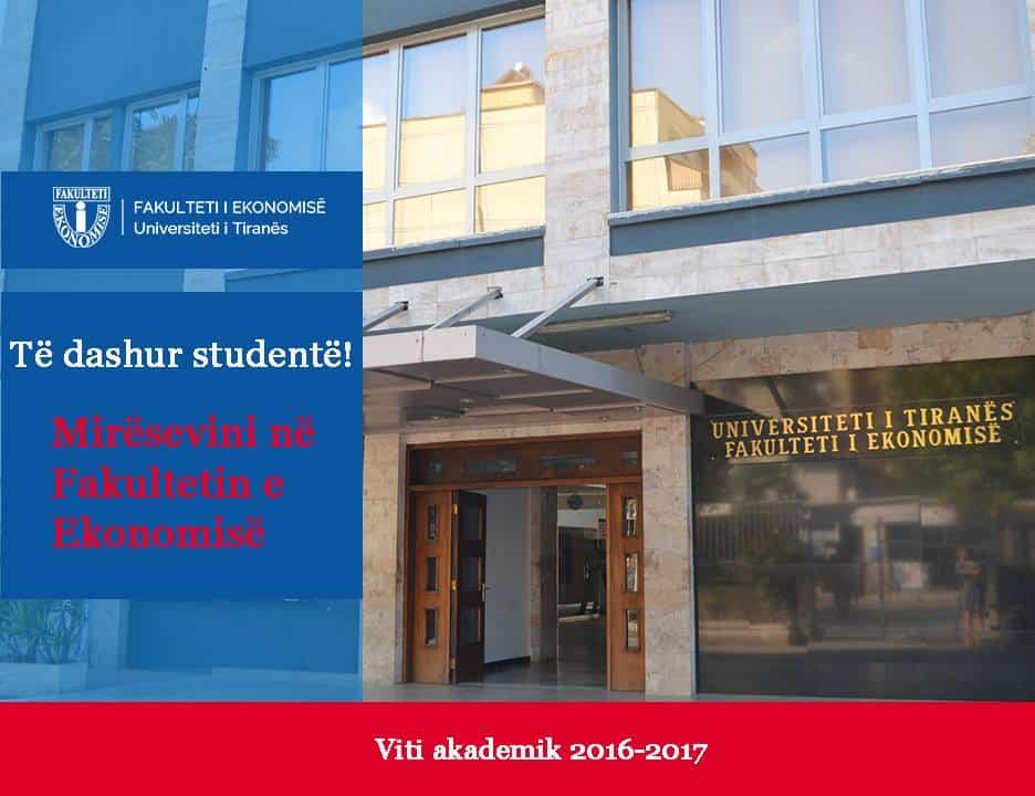 Faculty of Economics, University of Tirana - FEUT Campus