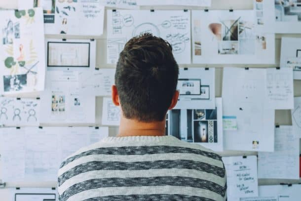 brainstorm or planning on a bulletin board