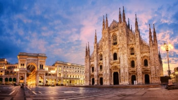 Exterior of Milan cathedral