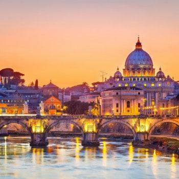 Rome cityscape at night
