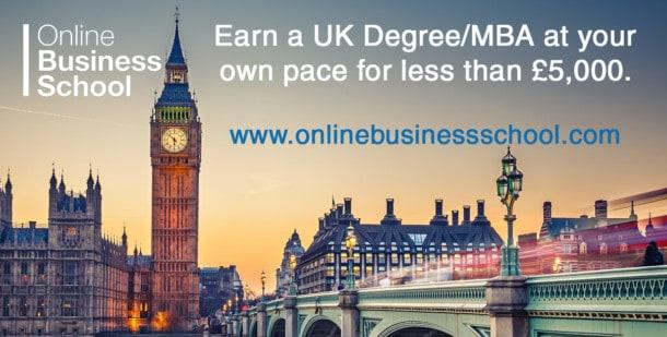 Online business school, UK