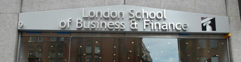 London school of business & finance exterior