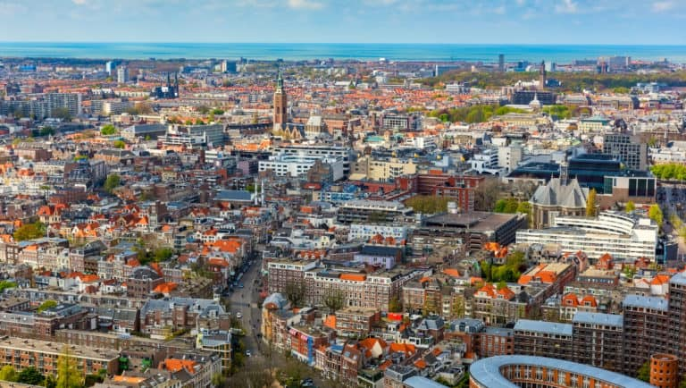 the hague city from above